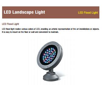 LED Flood light - LED Landscape light