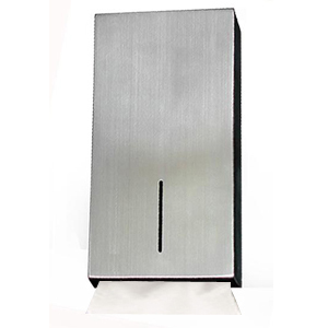 Kitchen Lockable Wall Mount Folded Hand Tissue Dispenser in Stainless Steel