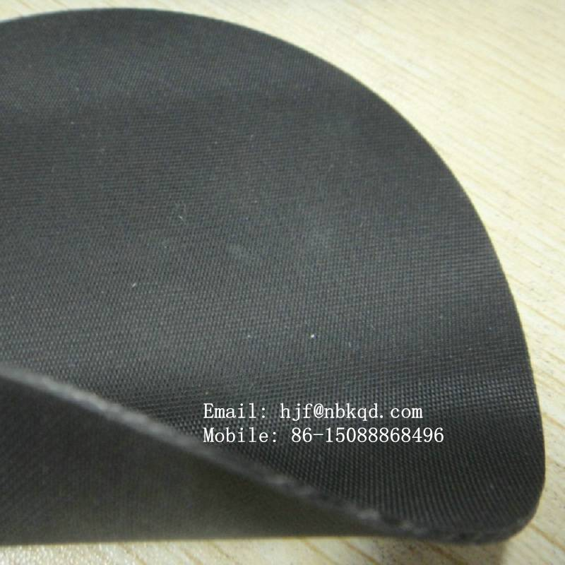 1 0mm Two Faces Matte Black Hypalon Fabric Sheet For