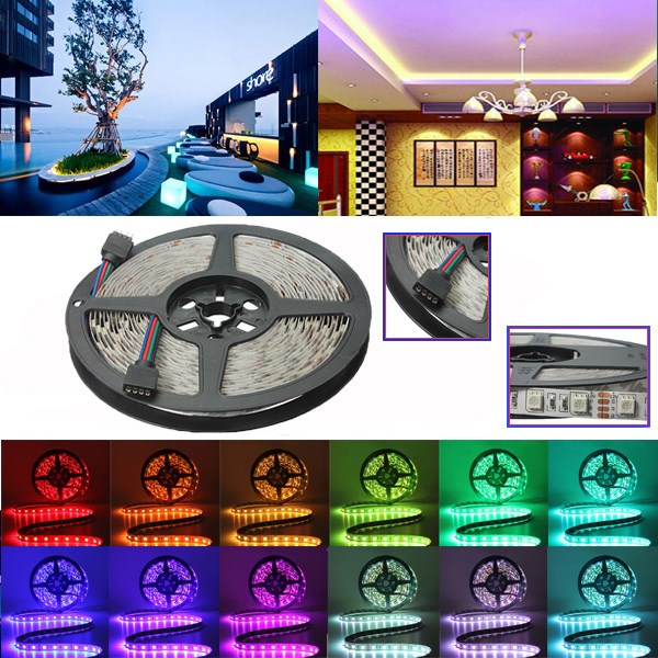 LED Strip Light 5m 300 SMD LED White Non-waterproof, 12 Volt, Indoor Party Christmas Holiday Festiva