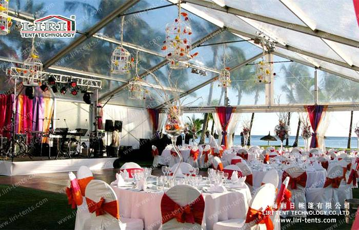 500 people clear roof party tent for sale from LIRI
