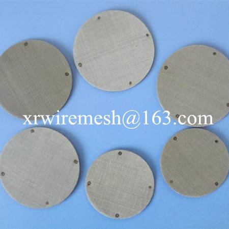 Wire mesh disc for plastic granules