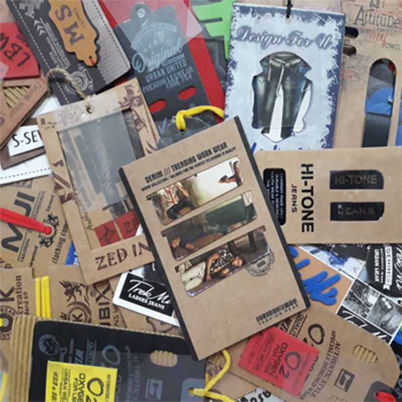 hanging tags and labels