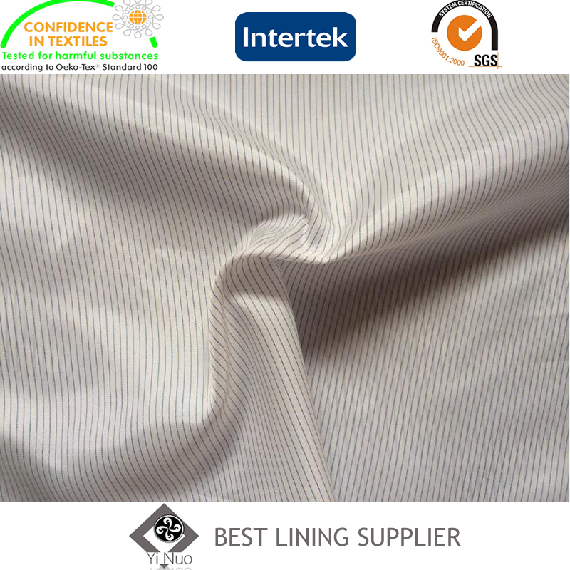 100% Polyester Two Tone Stripe Mens Suit Lining Fabric