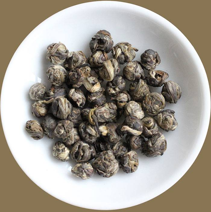 Authentic Jasmine Dragon Pearls organic China green tea