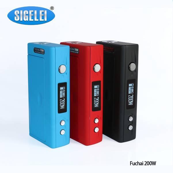 e-cigarette Powerful and cool Sigelei Fuchai 200w TC box mod Sigelei Fuchai 200w box mod