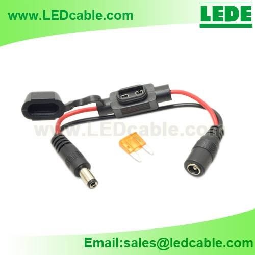 Waterproof Mini Automotive Fuse Holder with DC Power Connector