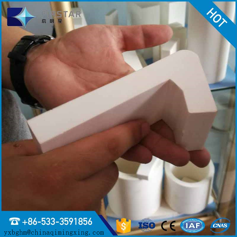 L-shaped Ceramic Lining for Cyclone /High wear technology/High grade Alumina ceramic liners/Factory