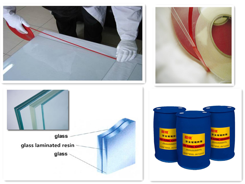 SAOSA UV cured resin for safety bent glass lamination