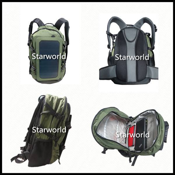 Fashion Portable Camping and Hiking Solar Backpack Charger for Mobile and Laptop