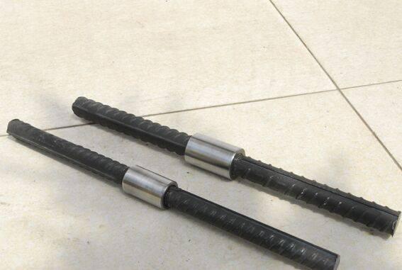 High tensile strength rib peeling rebar coupler