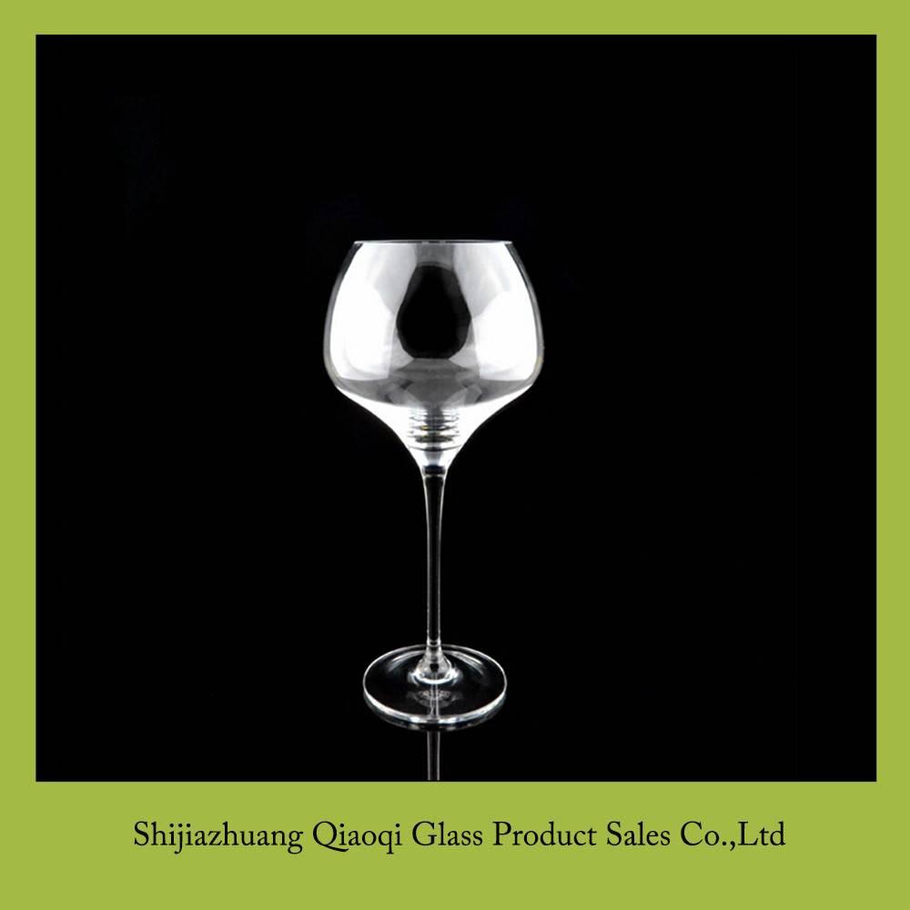 Transparent crystal goblet glass cup