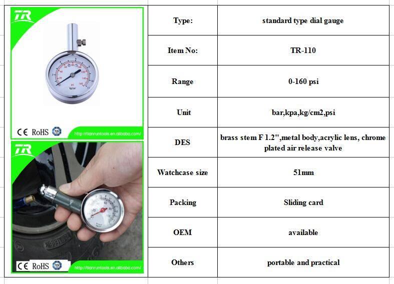 0-160 psi dial gauge