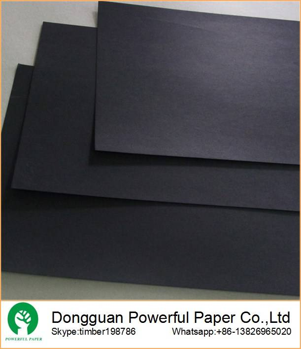 SGS certificated quality 80g -450g black paper