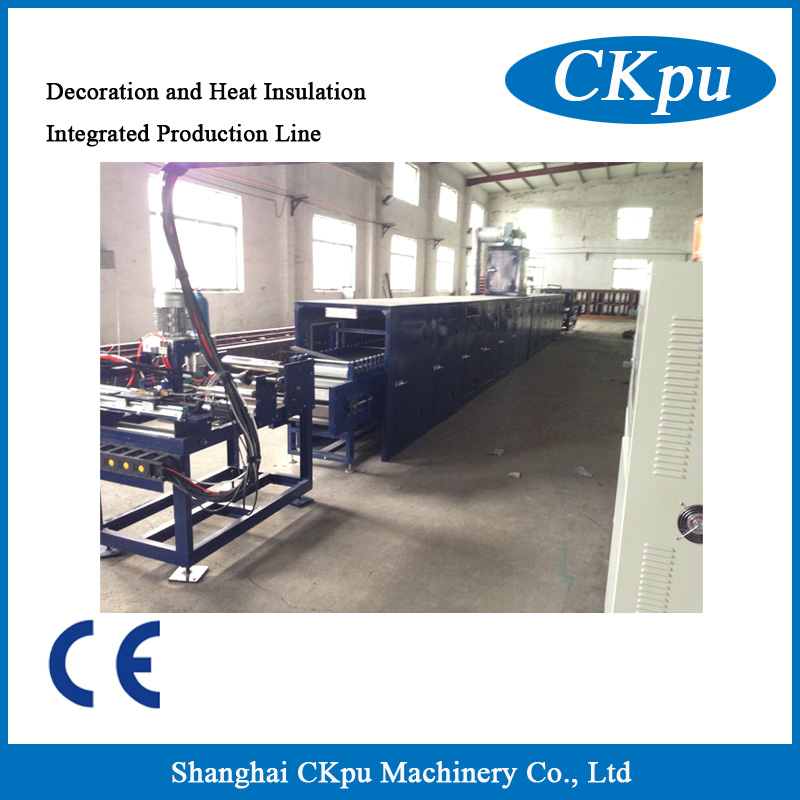 Decoration and heat insulation integrated production line