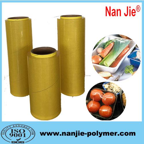Nan Jie soft pvc stretch film 240-1500m film rolls from manufacturer