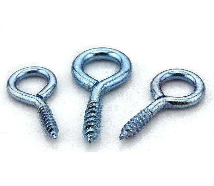 Zinc plated carbon steel screw metal eye screw