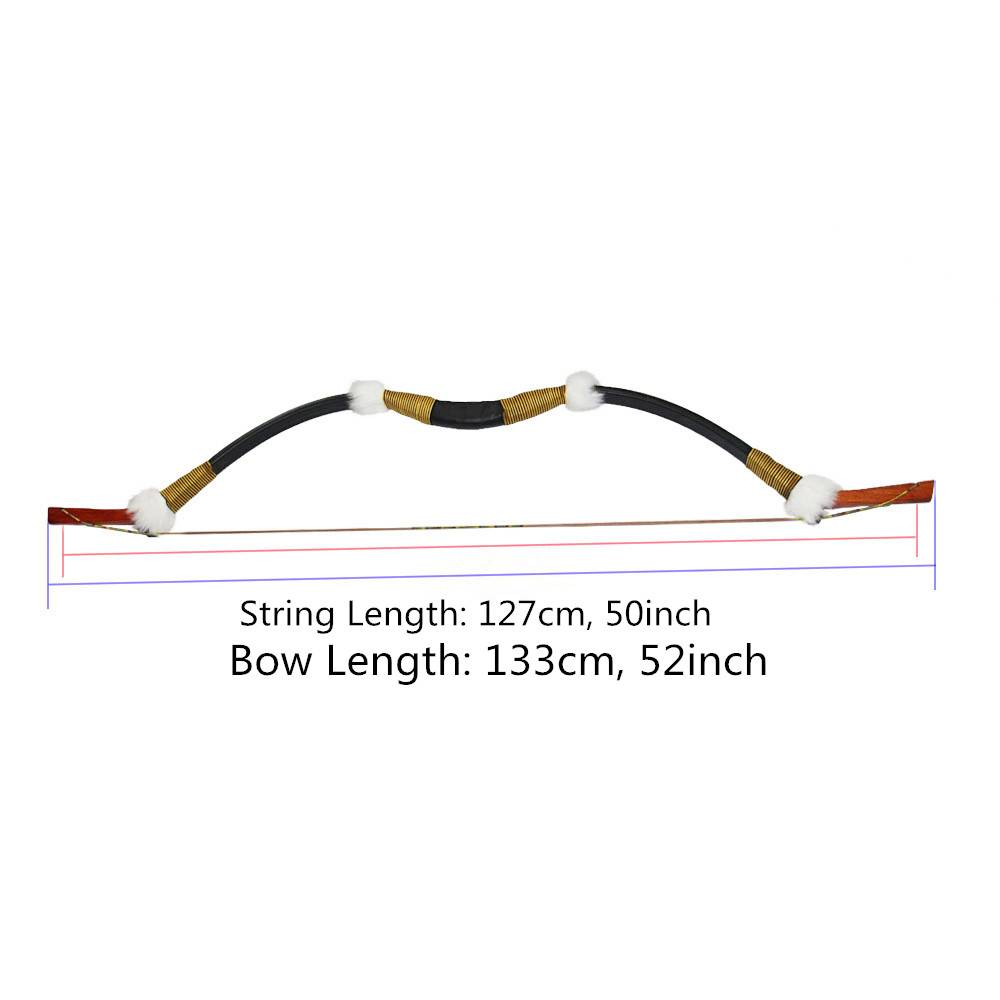 Archery 45lbs Recurve Bow Traditional Wooden Longbow for 400 spine Carbon/Fiberglass Arrow Hunting T