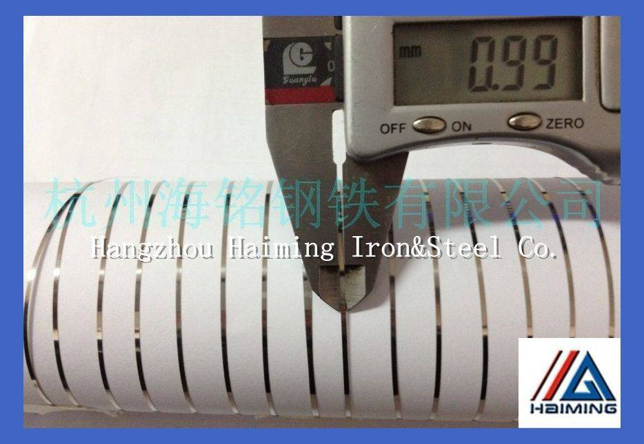 550HV 301 stainless steel strip 0.1*1.0mm for pipe