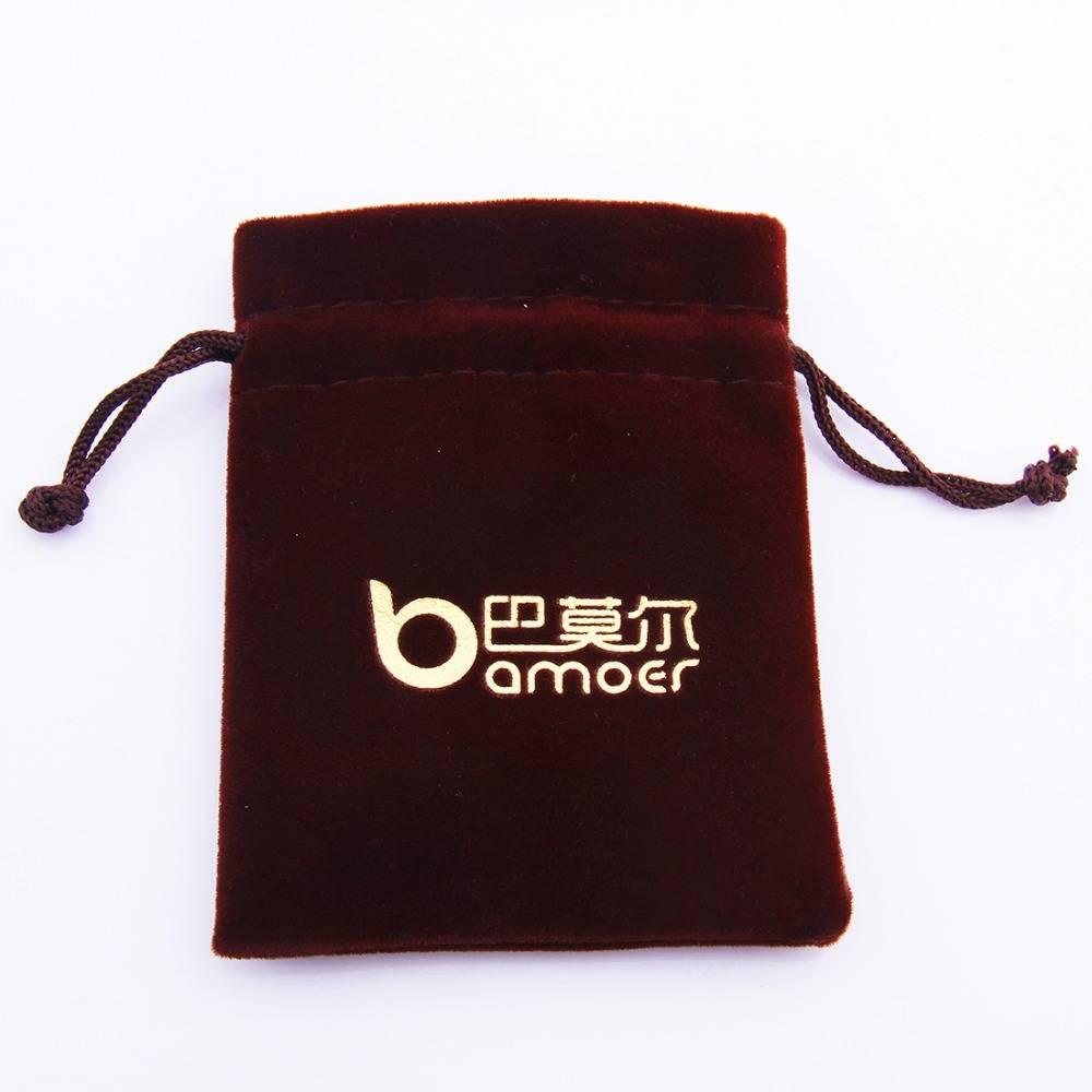 Custom logo velvet jewelry packaging bag