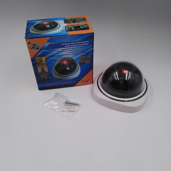 Dome CCTV Dummy Camera/Dome Fake Camera with Red Flashing Light