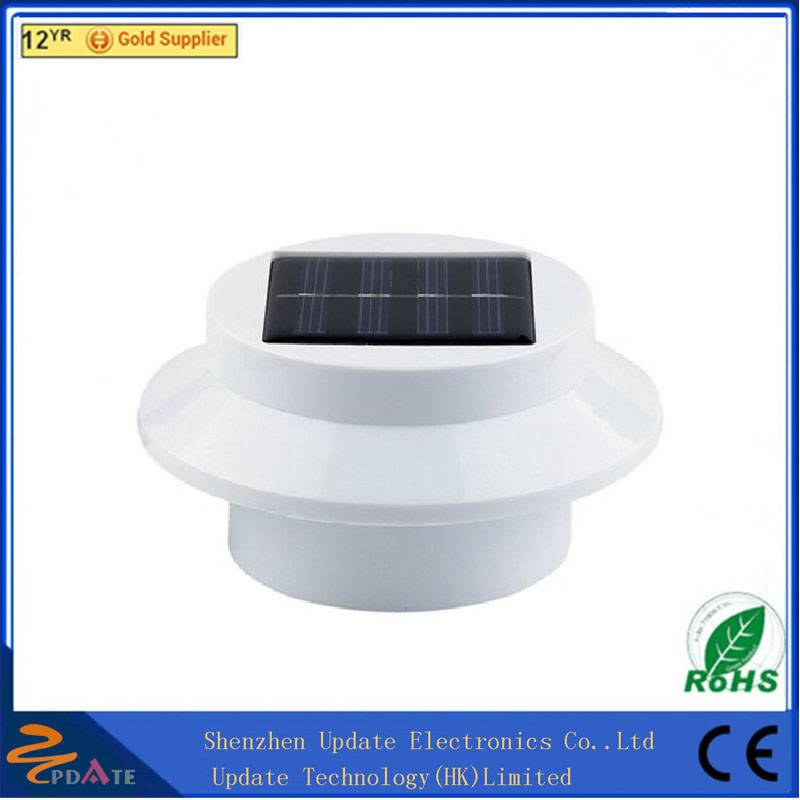 IP44 LED Outdoor Solar Power Light Fence Roof Gutter Garden Wall Lamp Path Lighting
