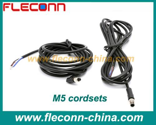 M5 Sensor Cable and Cordset with 2 PIN 3 PIN 4 PIN Connector