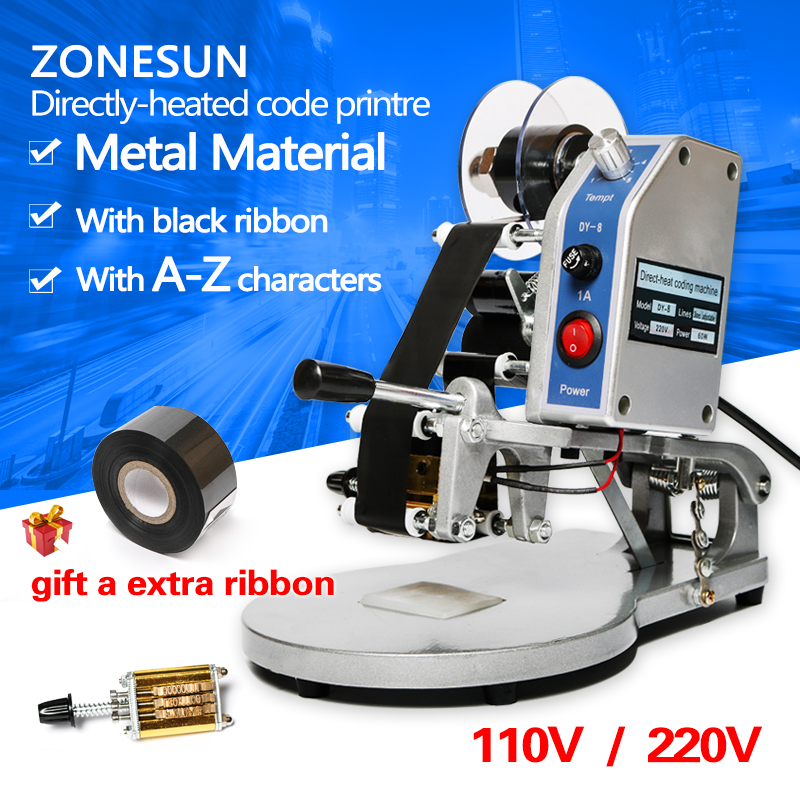 ZONESUN Words and date printer/Manual Hot Stamping Date Coding Machine