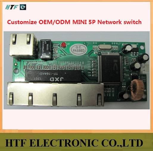 high quality ODM 5 Port 10/100M half-Full Duplex unmanaged FAST lay2 network Switch