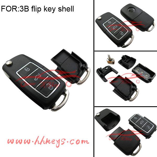 VW B5 Style Waterproof Remote Duplicator Shell (Black)