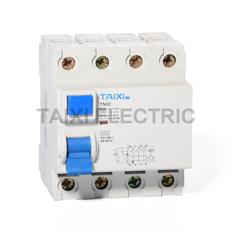 TNID-63 Residual Current Circuit Breaker (1P+N, 3P+N)