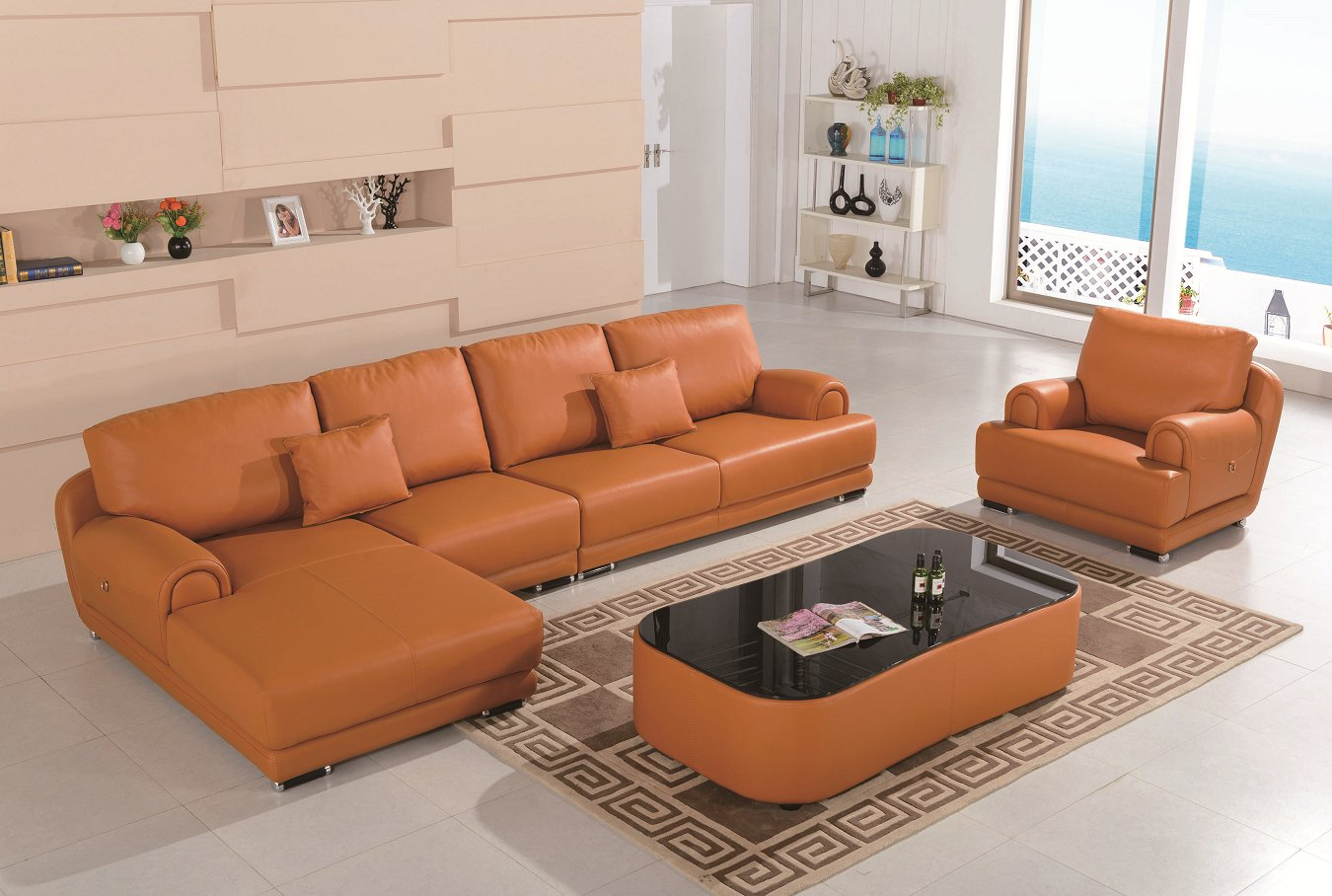 Luxury Furniture Sectional Leather Sofa