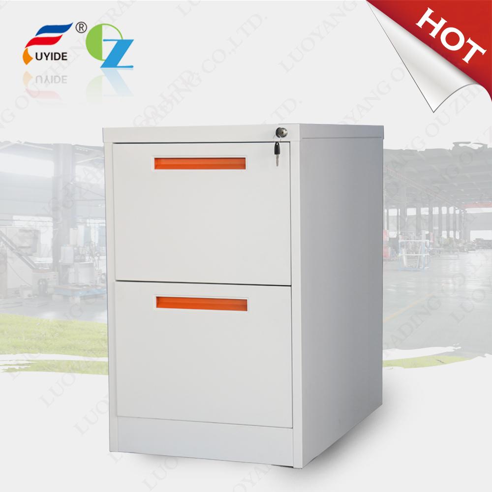 Fashion design Metal vertical 2 Drawer Filling Cabinet File Cabinet, environmental powder coating