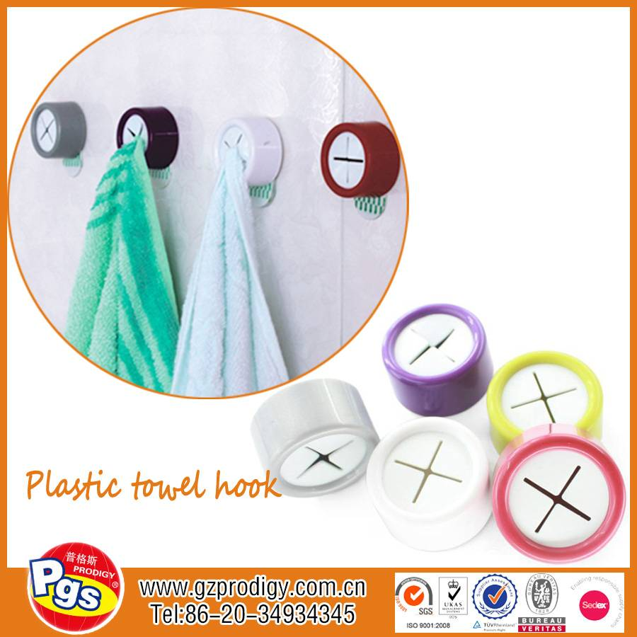 Kitchen towel hook/Adhesive colorful towel clip hook