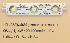 LED Module, Samsung chip, 3P Series, LFU-C3SW-5630