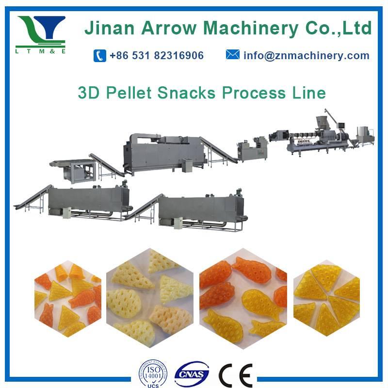 3D pellet snacks process line