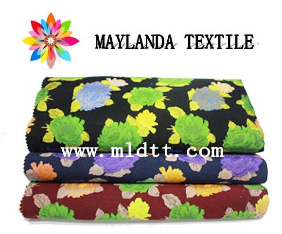 Maylanda Textile 2016 Factory for Garments, New Style Large Flower Color Yarn Jacquard Fabrics 3456