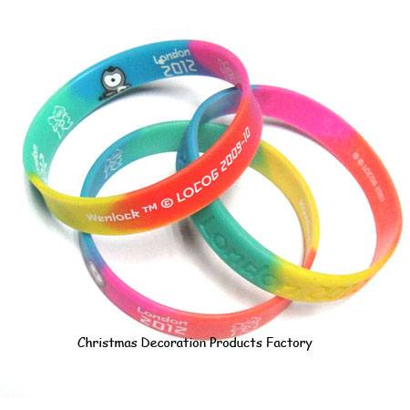 London 2012 mixed color silicone bracelet for kids