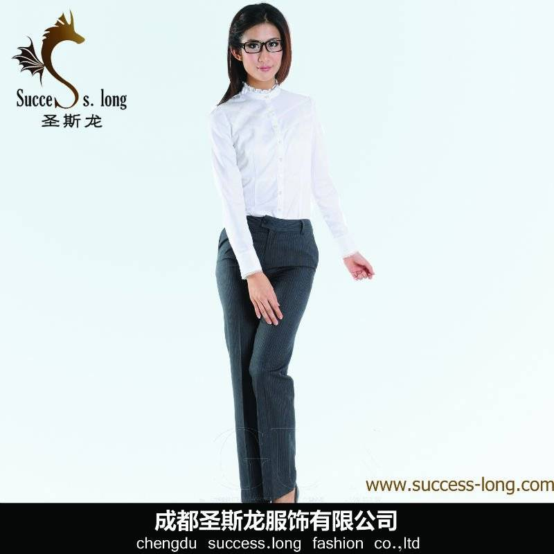 fashion new style cotton office lady women blouse shirts