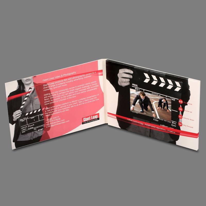 4.3 inch custom lcd video player card,digital printing video brochure