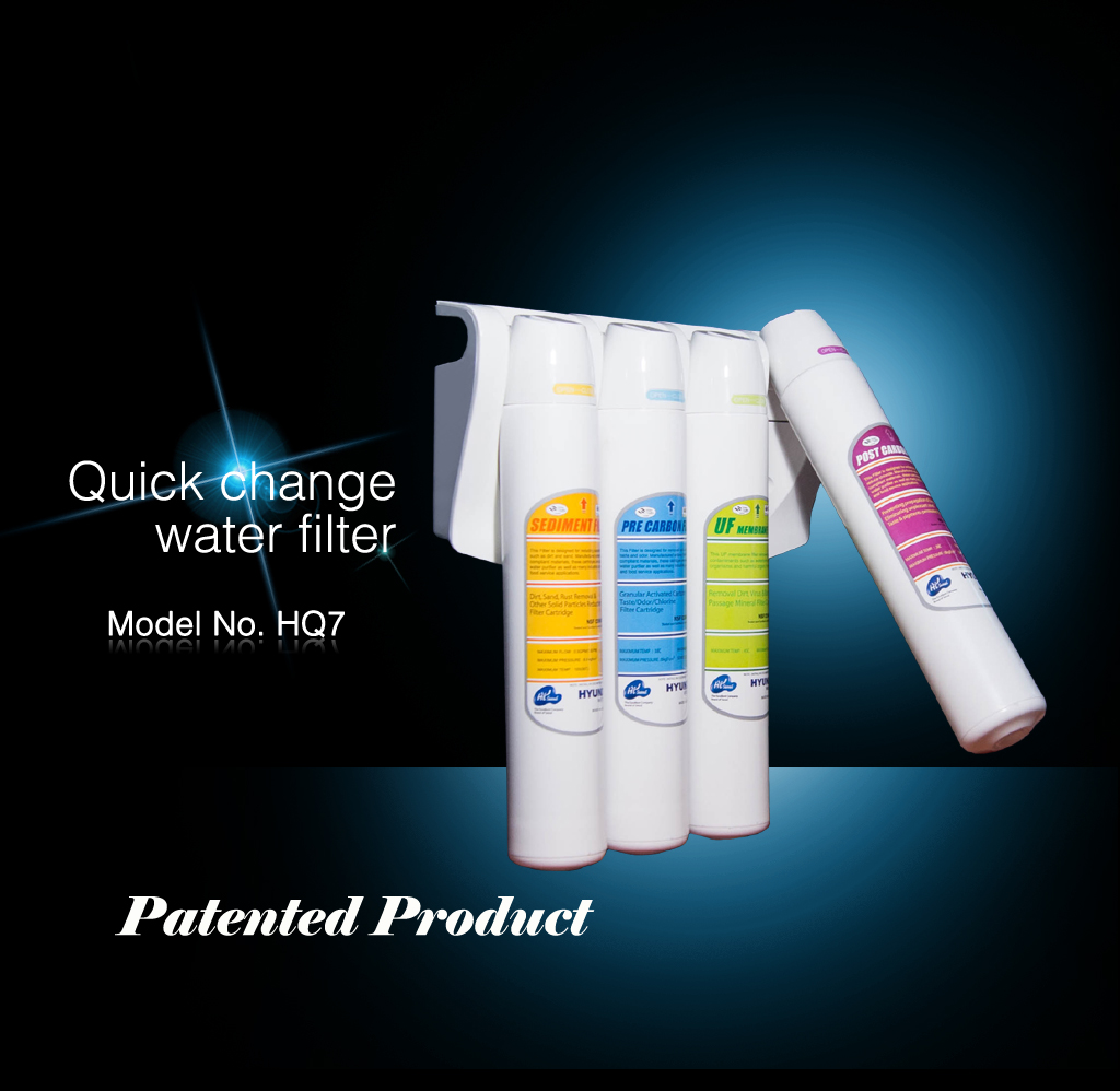 Undersink Water Purifier Quick Change Filter System