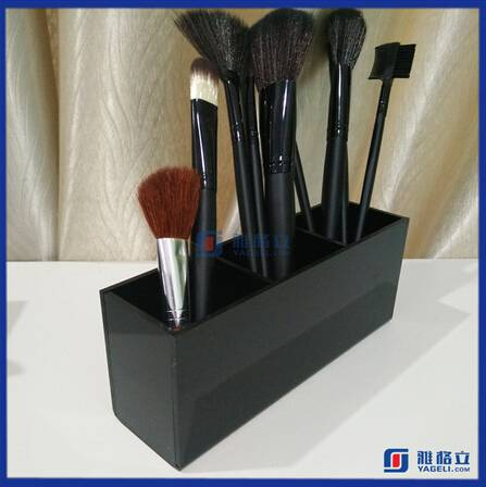 Acrylic cosmetic brush holder