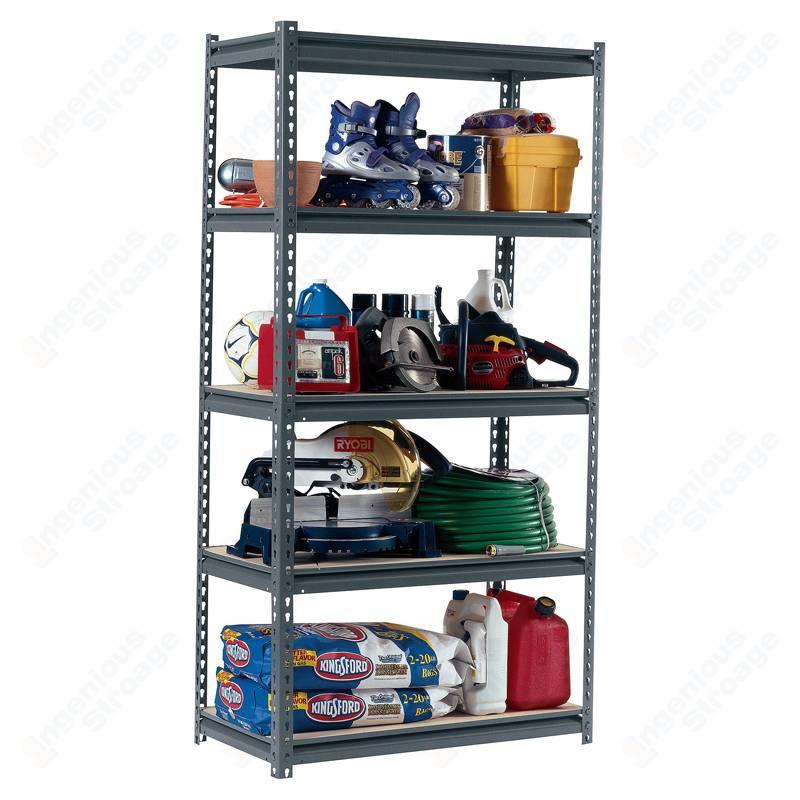 5 Garage Shelf Storage Rack Unit
