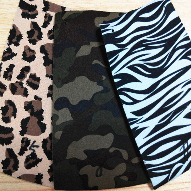 Zebra neoprene fabric animal skin neoprene print coat for diving material factory price 1mm 2mm 3mm
