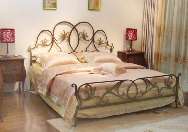 luxurious metal bed