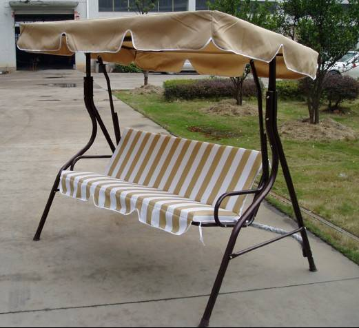 outdoor swing chair with sun shade