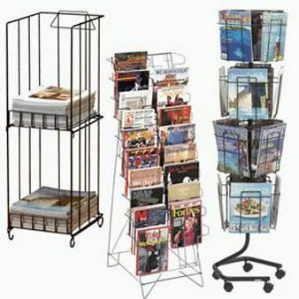 Metal magazine display stand