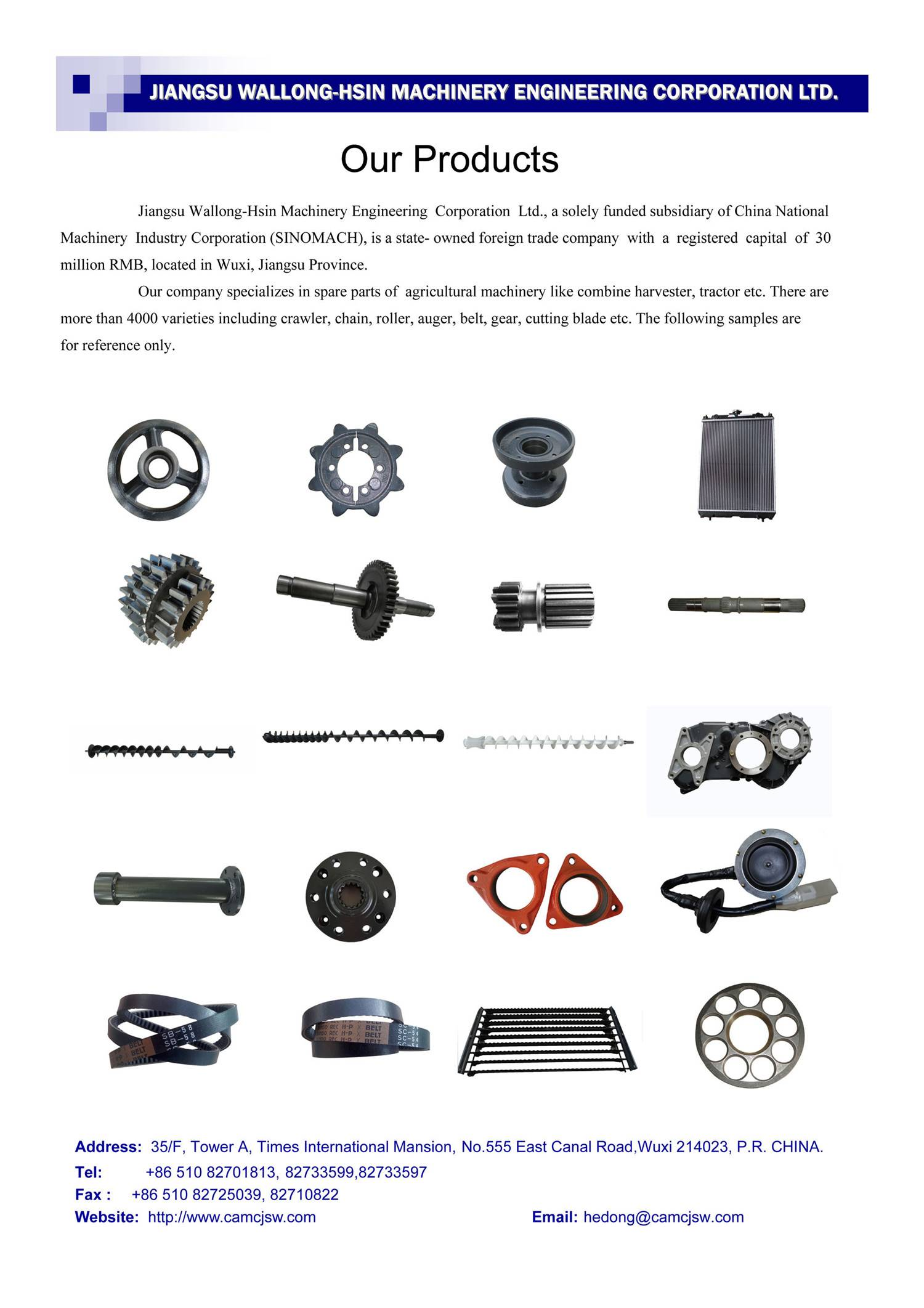Spare Parts for Combine Harvester