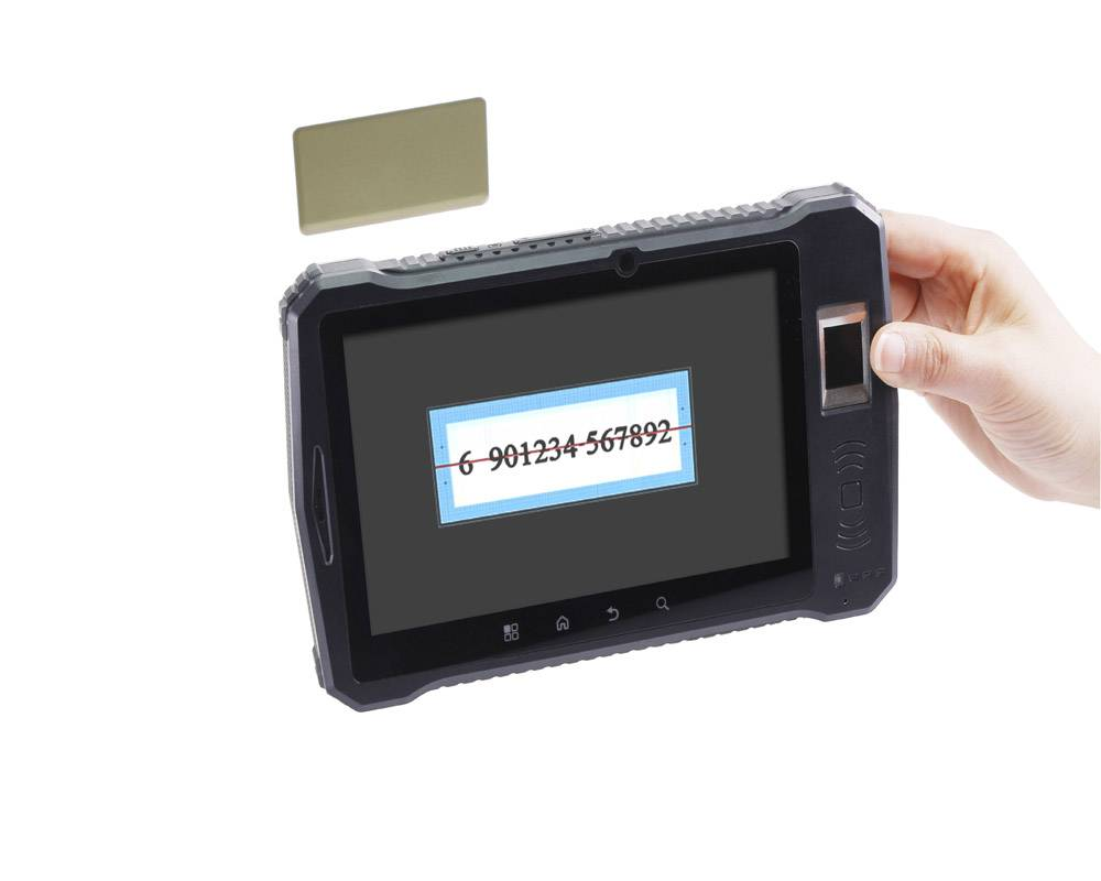 android wireless 1d barcode scaner with rfid and fingerprint reader--A370