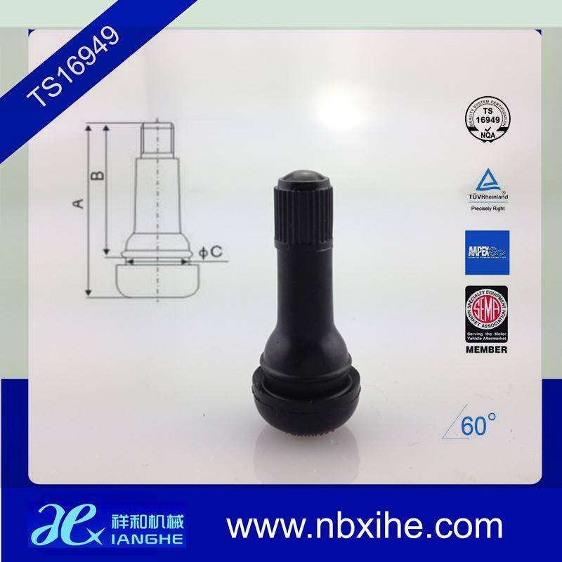 TR413 valve stem for sanp-in tubeless rubber valver